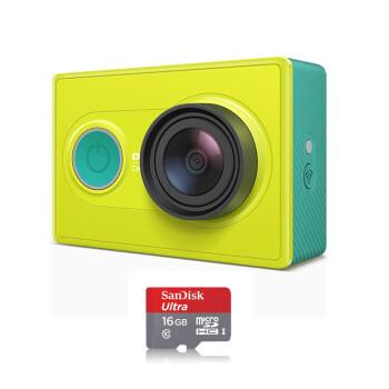 小蚁(yi)运动相机 小米智能运动摄相机 基础版(丛林绿)+闪迪16g卡
