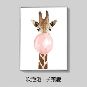 diy数字油画三联三拼卡通动物现代手工绘油彩填色客厅