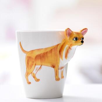 智聪星 3d水杯 立体陶瓷杯手绘动物杯个性彩绘创意咖啡杯大容量马克