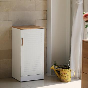 格百叶门储物柜鞋柜板式两门鞋柜单门柜 浮雕白三层单门