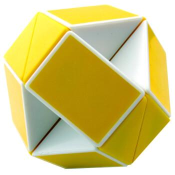 圣手异形魔方 镜面 斜面 五魔 金字塔 比赛专用 智力玩具 24段魔尺-黄
