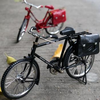 仿真复古老式28大驴脚踏车凤凰自行车模型摆件创意父节创意礼品 两件图片
