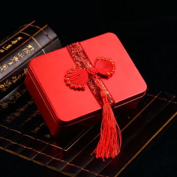 创意马口铁喜糖盒子 婚庆糖果盒 结婚用品喜糖铁盒 喜糖盒 中式长方形