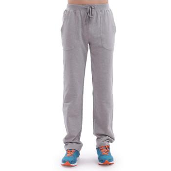 双星运动裤男长裤春夏不起球针织裤男士纯棉运动卫裤 L0005 浅灰/薄款 175/2XL