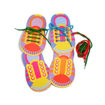 艺趣幼儿手工材料手工diy儿童手工制作幼儿手工diy我会系鞋带