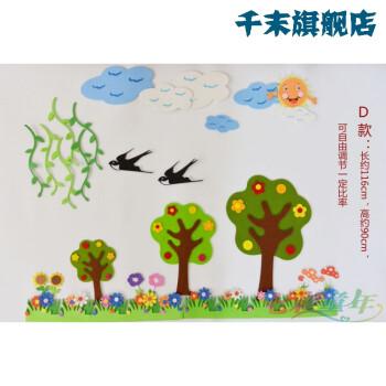 幼儿园教室布置小学黑板报装饰墙贴小型蓝天白云组合墙面装饰 100 d款图片