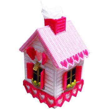 胡子手工艺术抽纸盒纸巾盒新店促销特价包邮新手慎选 粉色小屋卷纸盒