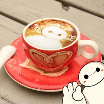 手绘咖啡杯碟套装卡布奇诺陶瓷/马克杯带勺子奶茶杯水杯个性创意简约