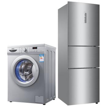 海尔  XQG70-1000J+BCD-231WDBB  7公斤芯平衡滚筒 231升三门冰箱  冰洗套装