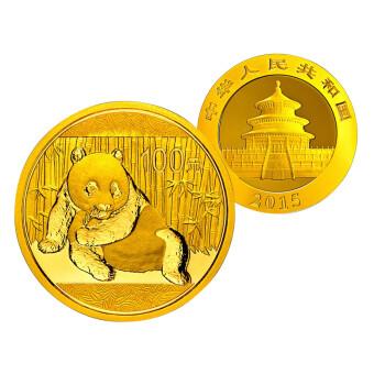 中国金币河南钱币 2015年熊猫金币 1/4盎司金币