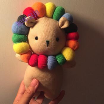 手工diy狮子公仔材料包 手工制作布偶娃娃手工布艺玩偶diy材料包y 免