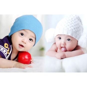 漂亮可爱宝宝海报妈妈胎教海报龙凤宝宝画像海报墙贴婴儿画报 荧光黄
