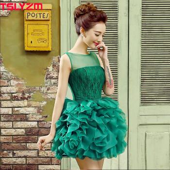 tslyzm2015影楼主题服装婚纱摄影小礼服个人写真主持人演出服歌手女