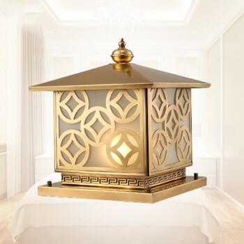 佐瑞(zuorui) 欧式柱头灯方形墙头围墙柱子大门别墅户外庭院全铜灯具图片