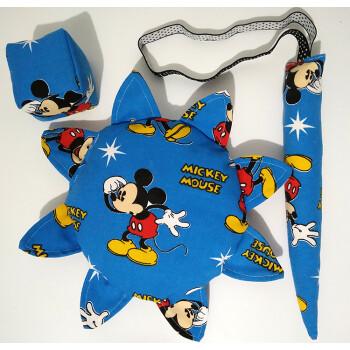 幼儿园软飞盘 儿童沙包荞麦 小朋友布艺尾巴三件套玩具 飞盘带纽扣
