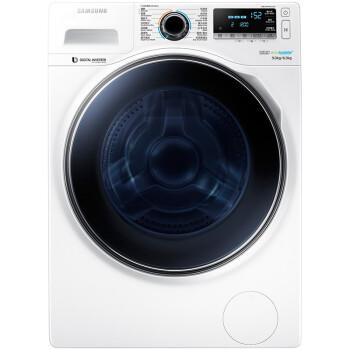 三星(SAMSUNG)WD90J7410GW/SC 9公斤 洗烘一体 泡泡净洗涤  智能变频大容量滚筒洗衣机(典雅白)