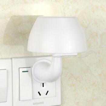 智能遥控小夜灯 婴儿喂奶灯LED声光控感应氛围床头睡眠夜光灯 蘑菇灯_十档调光黄光