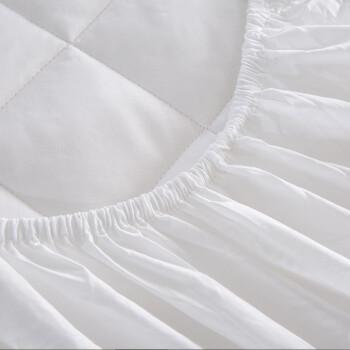 兰叙 五星级酒店床上用品 全棉加厚床笠单件 纯棉防滑席梦思床垫套保护罩 亲肤透气 180*200cm
