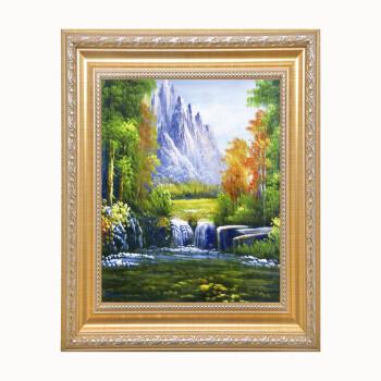 风景装饰画花卉墙壁挂画走廊油画玄关客厅壁画山水画欧式画中式画 g