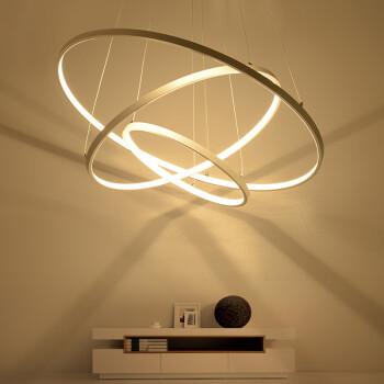 餐厅吊灯个性现代简约led客厅北欧灯具圆形卧室灯环形