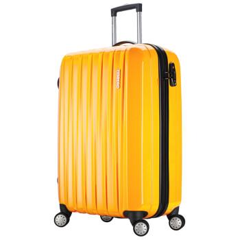 【宾豪拉杆箱包】宾豪BINHAO箱包北欧工艺耐寒抗摔PC万向轮拉杆箱男女旅行行李箱998383HA黄色20寸