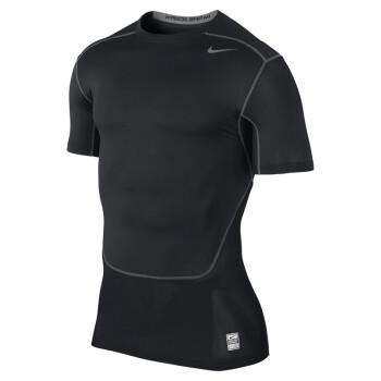 nike耐克nikepro男子运动短袖紧身衣/T恤 449792 636147 黑色636147-010  XL