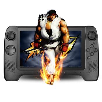 小霸王安卓智能游戏机211 7寸高清屏4核掌上游戏机psp3000/PSV掌机无线触摸屏 黑色 标配16G版本+32G内存卡