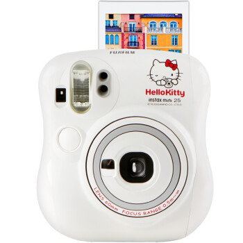 富士(FUJIFILM)趣奇(checky)instax mini25相机 Kitty限量版(白色)