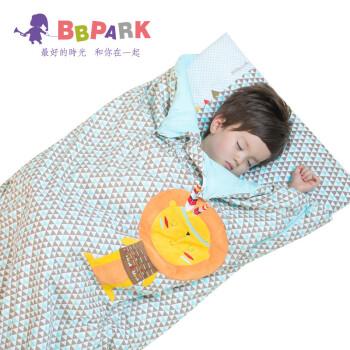 贝贝帕克 宝宝防踢被睡袋加厚儿童全棉 睡袋婴儿被式睡袋多用睡袋 白底三角 120*65cm
