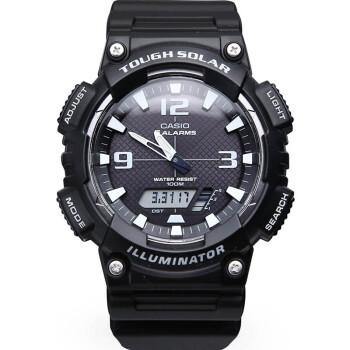 卡西欧(CASIO)手表 AQ-S810W系列太阳能电子男表 黑树脂AQ-S810W-1A