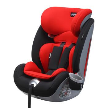 Drom 儿童汽车安全座椅 宝宝安全座椅 双鱼座 9个月-12岁 3C认证 波尔多红