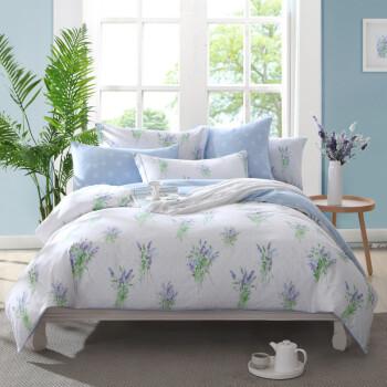 博洋家纺 床上用品 全棉床单四件套 被套 春夏田园-苜蓿花开 实物拍摄 1.8米床