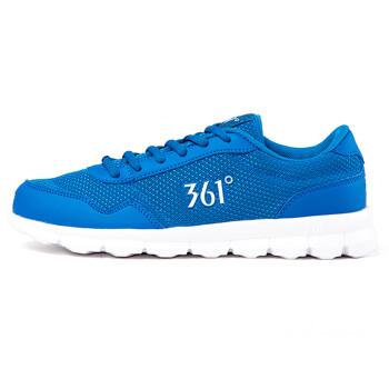 361度跑步鞋男女款夏季男鞋超轻慢跑鞋减震透气跑鞋运动鞋男旅游鞋休闲鞋 (男款)蓝/白 42