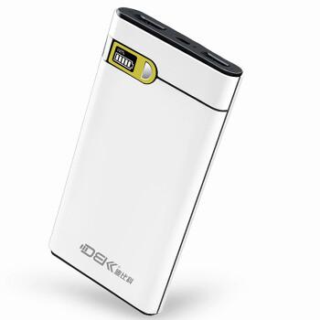 迪比科(DBK)X1 移动电源充电宝10000毫安 超薄聚合物 LCD液晶屏显 双USB