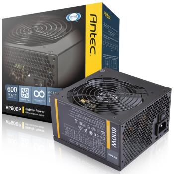 安钛克(Antec)额定600W VP 600P 电源 (主动式PFC/12CM静音风扇/高档黑色PCB板/双组12V输出/电脑电源)