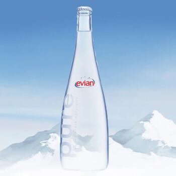 法国原装进口 Evian 依云矿泉水 750ml*12 玻璃瓶
