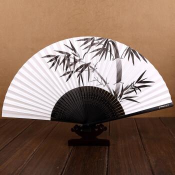 王星记扇子正品 中国风手绘白纸扇 日式串面香纸扇 高档工艺礼品女士7