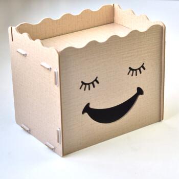 美坪方纸巾收纳盒个性可爱表情创意diy收纳纸巾盒布纹(害羞)