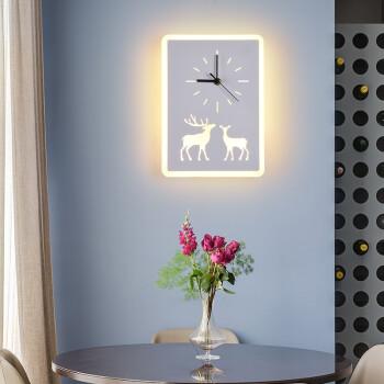 凯晶堡灯饰灯具壁灯床头过道走廊楼梯灯背景墙装饰灯钟表时钟灯具客厅 双鹿钟表
