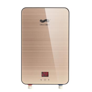 奥利尔(AOLIER) K55 5500W 即热式电热水器 三秒热淋浴洗澡 冲凉宝小厨宝 B65香槟金6500W 包上门安装
