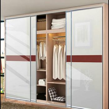 钢琴烤漆衣柜推拉门定做 环保高光实木衣柜移门定制 衣柜门壁橱门