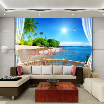 立体风景墙纸墙壁纸 卧室电视北欧动物贴花餐厅女孩儿童沙发田园儿童