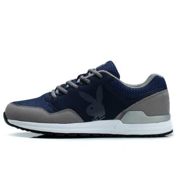 花花公子 跑步鞋运动鞋男反绒时尚男鞋运动休闲板鞋透气低帮鞋子男 DA51033深蓝 41