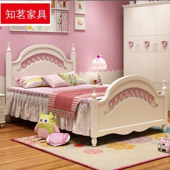知茗儿童床女孩公主床卧室家具套房组合女生单人床田园儿童小孩床1.