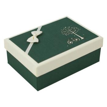 商务圣诞礼品盒长方形文艺小清新礼物包装盒子创意生日礼盒抖音 墨绿图片