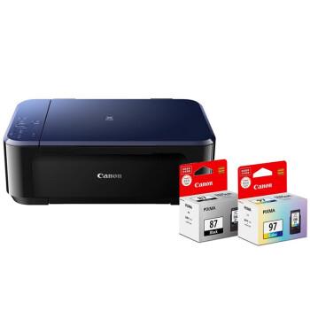 佳能(Canon)E568 彩色喷墨一体机+PG-87黑色墨盒两支+CL-97彩色墨盒一支