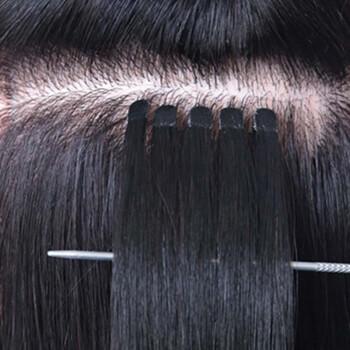 帝飞(difei) 帝飞(difei)接发真发可烫染假发女长直发接头发发片 4cm图片