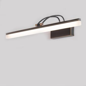 卡梦尔 镜前灯LED欧式全铜浴室灯卫生间化妆镜子灯镜柜灯美式全铜别墅镜柜灯 铜色灯体11W(长54CM暖白光)
