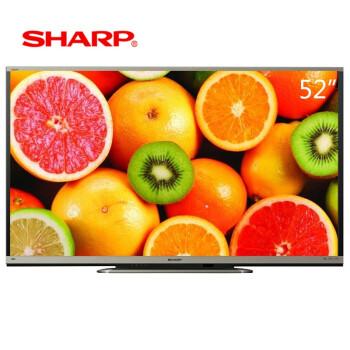 夏普(SHARP)LCD-52LX750A 52英寸 日本原装液晶面板 3D Android操作系统智能液晶电视(黑色)