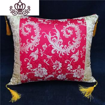 中式红木实木沙发圈椅中国风绸缎古典婚庆靠垫抱枕餐椅坐垫特价 花开图片